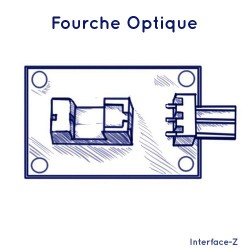 Fourche optique, mini barrière infrarouge