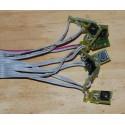 Interrupteurs Mini gris - Nappe 8 boutons