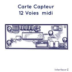 12 voies capteurs vers Midi 4 Ana / 8 Num