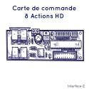 Commande 8 Actionneurs HD à utiliser avec carte fille