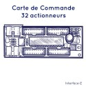 Commande 32 Actions fonctionnent avec 4 cartes filles.