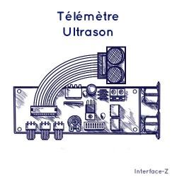 Télémètre ultrasons synchronisable + 3 voies analogiques