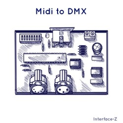 Midi to DMX, convertisseur Interface-Z