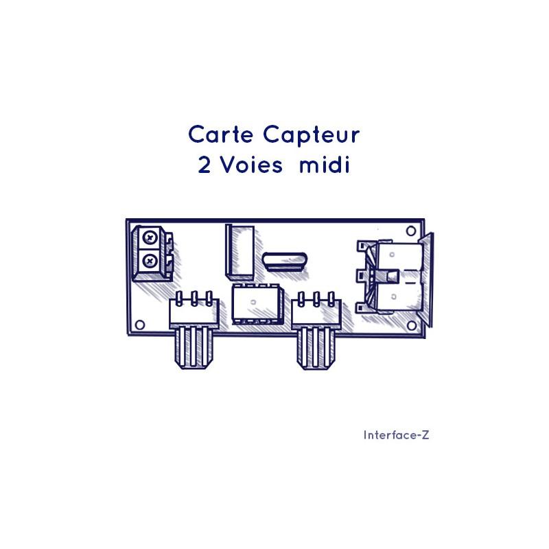 Interface 2 capteurs analogiques Midi