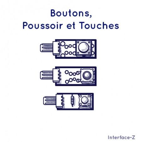 Poussoirs, Boutons et Touches