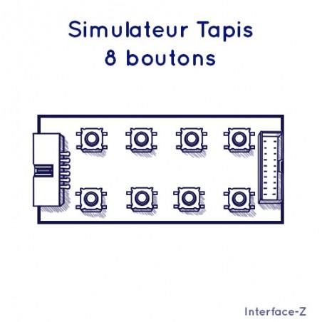Simulateur de tapis 8 Boutons