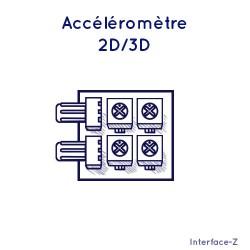 Accéléromètre 2D / 3D