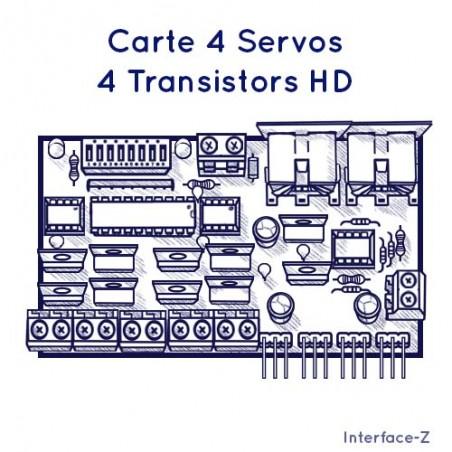 4 Servos / 4 Transistors H.D.