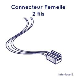 Connecteur femelle 2 fils