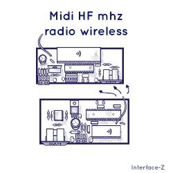 Midi HF 433 MHz sans fil