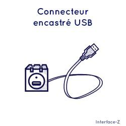 Connecteur encastré USB +...