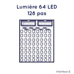 Lumière 64 LED 128 pas