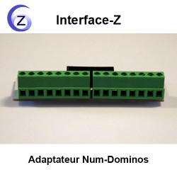Adaptateur câble en nappe vers dominos à 2 fils pour 8 boutons