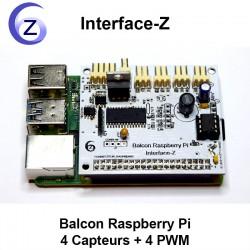 Carte Balcon Raspberry Pi 4 Capteurs 4 Actionneurs en gradation + contrôle général PWM d'intensité