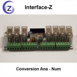 8 Relais de puissance 1RT temps réel Interface-Z