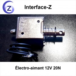 Solénoide / coil push-pull 2 kg 12 V Interface-Z