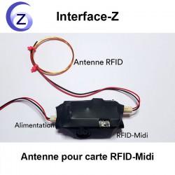 Antenne branchée sur module RFID - Midi Interface-Z