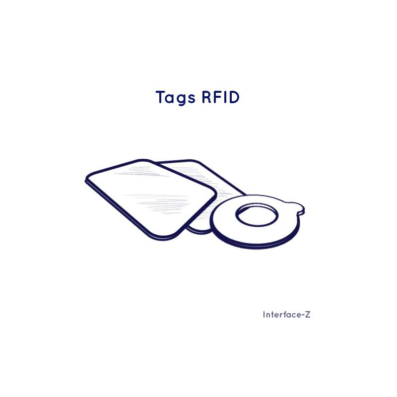 Tags RFID disque et carte.