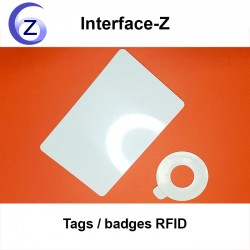 Tags RFID carte rectangualire et disque autocollant collant