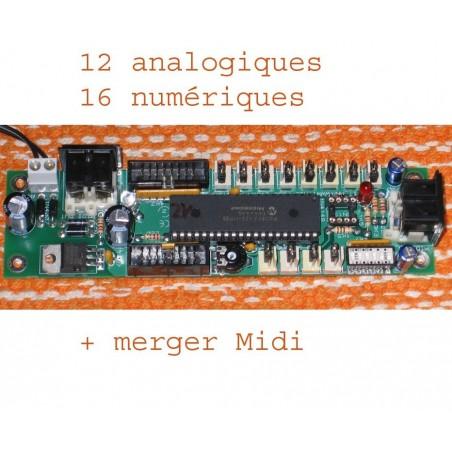 28 entrées vers Midi --- 12 Ana / 16 Num