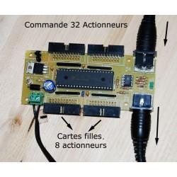 Commande 32 Actionneurs e gradation PWM.
