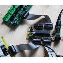 Carte de Commande 32 et carte fille Transistors pour la gradation en 128 pas.