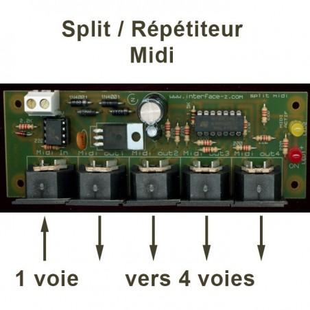 Split Midi 1 vers 4