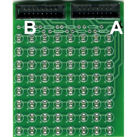 Matrice pour 64 LEDS non blanches.