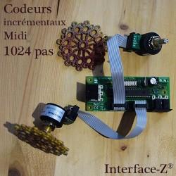 Codeur incrémental Midi, ici avec roue décorative