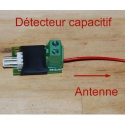Détecteur capacitif, capteur associé à une antenne conductrice