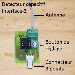Détecteur capacitif, antenne