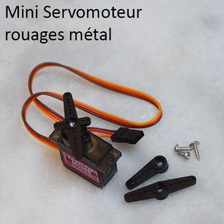Mini Servomoteur à rouages métal