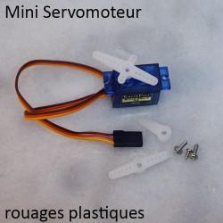 Mini Servomoteur plastique avec une tête pivotante interchangeable