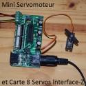 Mini Servomoteur métal : branchement sur carte 8 Servos Midi Inteface-Z