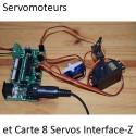 Mini Servomoteur, connexion sur une carte 8 Servos Interface-Z