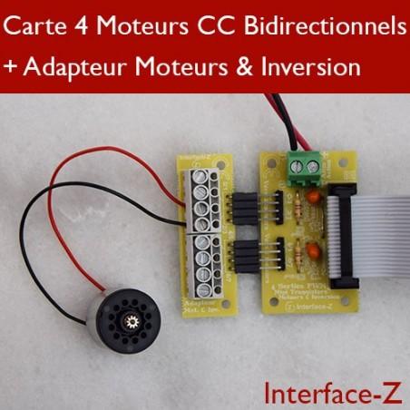 Moteurs CC Bidirectionnel sur adaptateur Dominos dédié