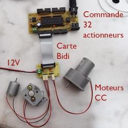 Carte PWM mini-transistors et moteurs Courant Continu