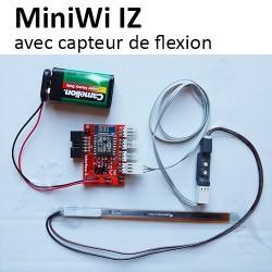 MiniWi et capteur de flexion embarqué