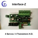 4 Servos / 4 Transistors haute définition