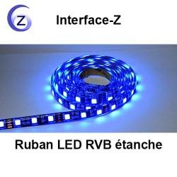 Ruban LED RVB étanche trichromie