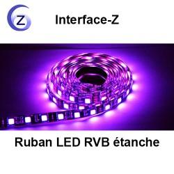 Ruban LED RVB blanc étanche