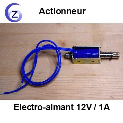 Electro-aimant 12V, bobine et tige