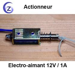 Electro-aimant 12V et fil branché