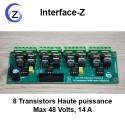 Gradation - 8 Transistors Haute puissance, commande d'actionneurs