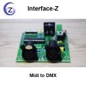 Midi to DMX, carte convertisseur de protocoles temps réel