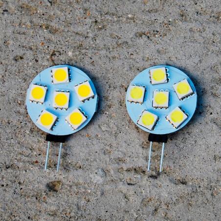 Lumière LED 12V 1 Watt 2 couleurs blanches