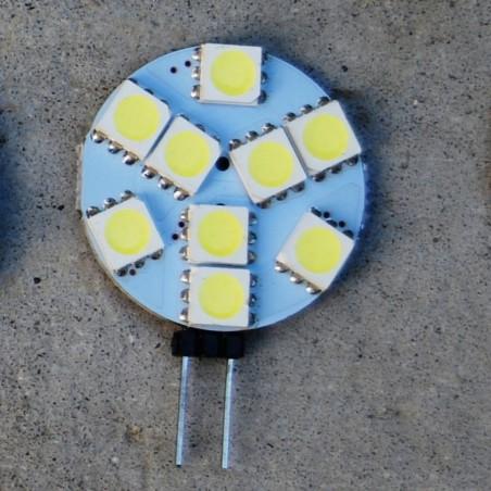 Lampe LED blanc chaud et feuilles de papier
