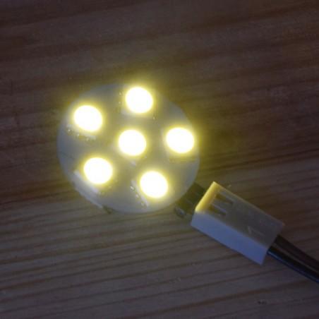 Ampoule LED 12V 1 Watt blanc chaud allumée