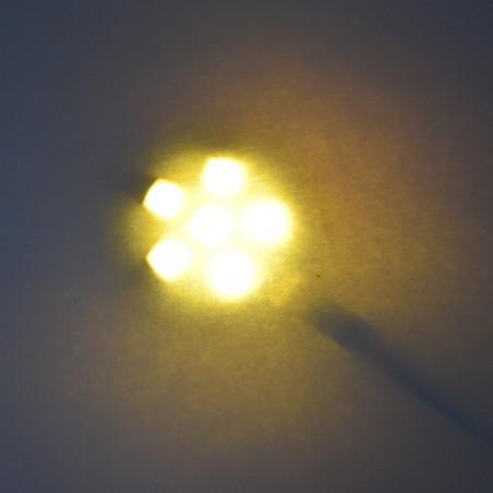 Eclairage LED 12V 1 W blanc doux derrière un papier