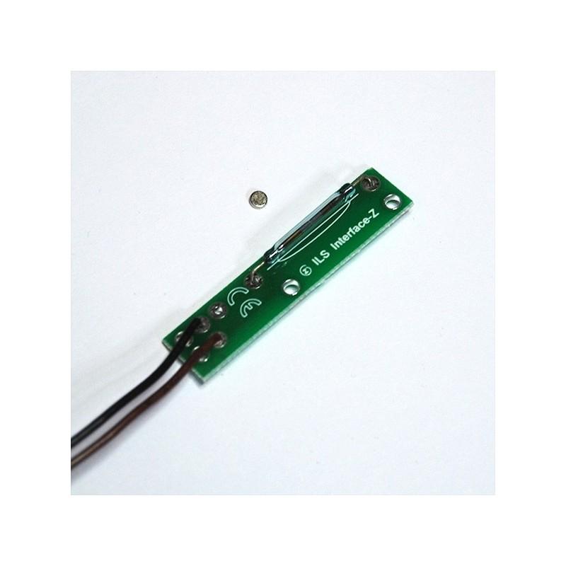 Capteur ILS magnétique - Soudé sur plaque - Petit aimant rond - Connectique 3 points ou nappe